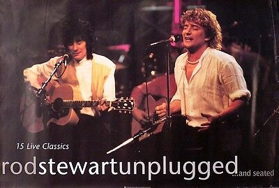 Rod Stewart Ron Wood 1993 Unplugged Original Promo Poster