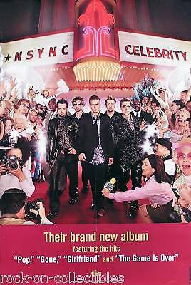 N Sync 2001 Celebrity 2-Sided Perforated Promo Poster Original