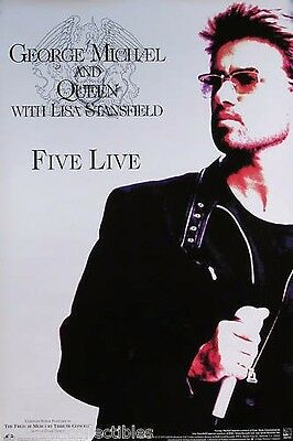 Wham! George Michael Queen 1993 Five Live Promo Poster