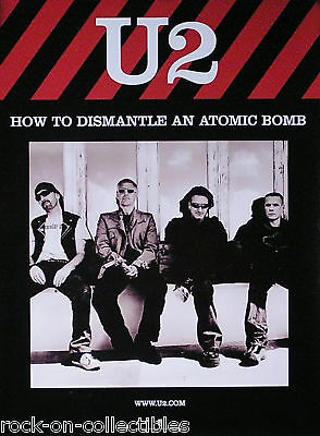 U2 2004 How To Dismantle An Atomic Bomb Promo Poster Original