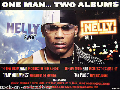 Nelly 2004 Sweat/Suit 2 Albums Official Universal Records Promo Poster