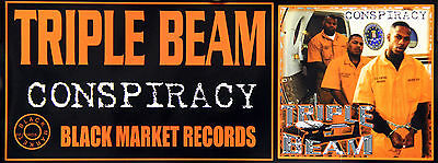 Triple Beam Conspiracy Official Black Market Records Promo Strip Poster