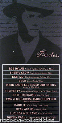 Hank Williams '01 Timeless Tribute 2-Sided Promo Poster Original
