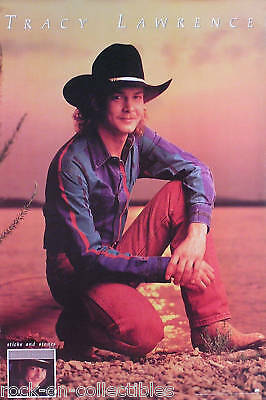Tracy Lawrence 1992 Sticks And Stones Promo Poster Original