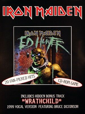 Iron Maiden 1999 Ed Hunter Rare Promo Poster Original