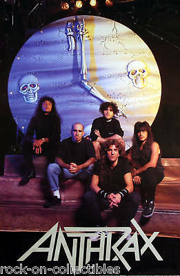 Anthrax 1990 Persistence Of Time Original Store Promo Poster