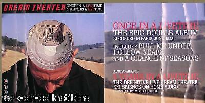 Dream Theater 1999 Once In A Livetime Promo Poster Original