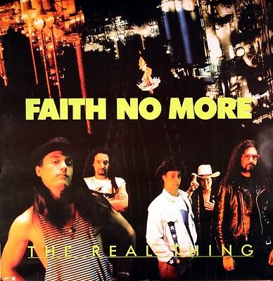 Faith No More 1989 The Real Thing Rare Promo Poster Original