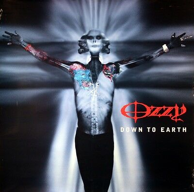 Ozzy Osbourne 2001 Down To Earth Promo Poster Original