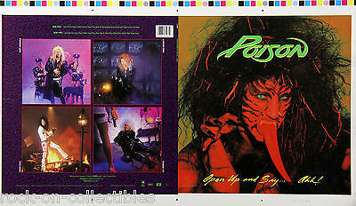 Poison 1988 Open Up And Say… Ahhh! Rare Album Cover Proof Bret Michaels Original