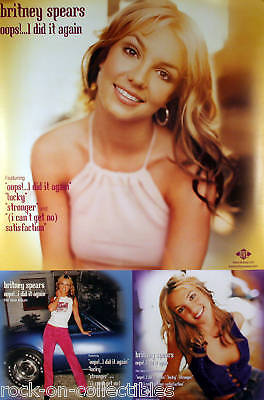 Britney Spears 2000 Oops Large Perforated Promo Poster Original