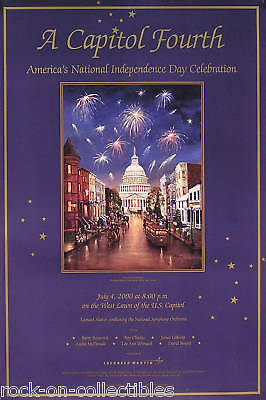 Ray Charles 2000 A Capital Fourth Concert Promo Poster Original