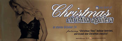 Christina Aguilara 2000 My Kind Of Xmas Promo Poster Original