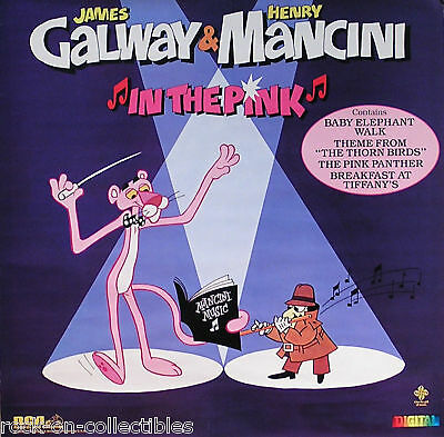 Henry Mancini James Galway 1984 In the Pink Original Promo Poster