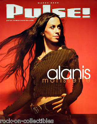 Alanis Morissette March 2002 Pulse Magazine Covr Poster Original