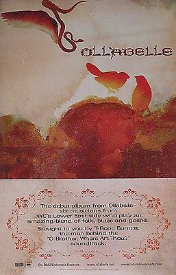 Ollabelle 2004 Self-Titled Album 2-Sided Promo Poster Original