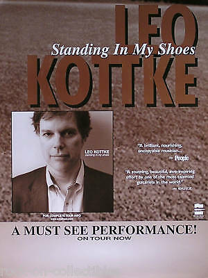 Leo Kottke 1997 Standing In My Shoes Tour Promo Poster Original