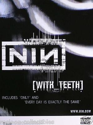 Nine Inch Nails NIN 2005 With Teeth Original Promo Poster