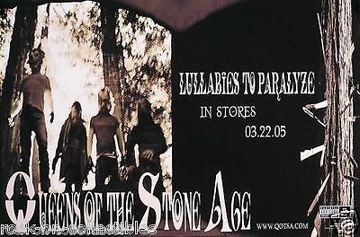 Queens Of The Stoneage 2005 Lullabies Original Promo Poster