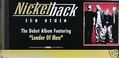 Nickelback 2000 The State Original Promo Poster