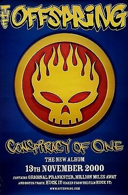The Offspring 2000 Conspiracy Of One Original Promo Poster