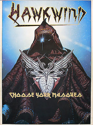 Hawkwind 1982 Original Choose Your Masques Tour Program U.K.