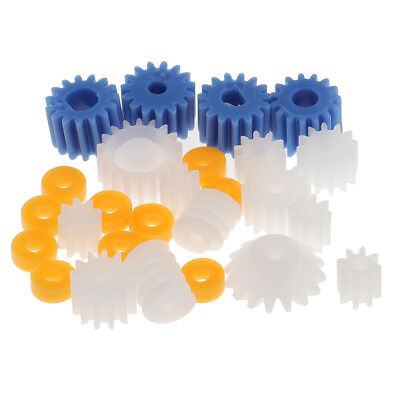 26Pcs Assorted Teeth Plastic Gear Wheel for Toy Car Motor Shaft Model Crafts
