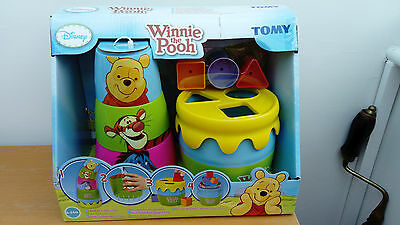 Tomy Winnie the Pooh Stack Pour Post 'n' Play Stacking Cups & Shape Sorter