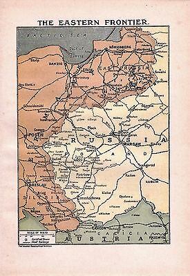 Antique Map 1920 The Eastern Front The Great War