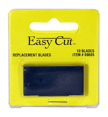 Easy Cut Safety Box Cutter Knife REPLACEMENT BLADES 10 EA/PK with case EASYCUT
