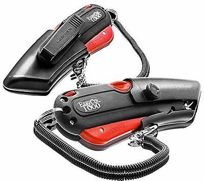 Easy Cut 1000 RED Safety Box Cutter Knife W/ 2 blades; Holster Lanyard Easycut