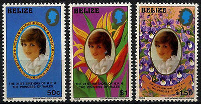 Belize 1982 SG#680-682 Princess Of Wales 21st Birthday MNH Small Size Set#D43282