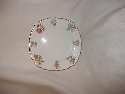 Vintage Royal Vale  Pretty Floral Sandwich /tea Plated Edged In Gold