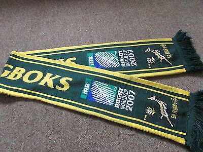 Canterbury SOUTH Africa SPRINGBOKS IRB Rugby World Cup 2007 RUGBY Union Scarf
