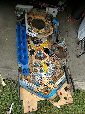 Popeye pinball playfield and parts