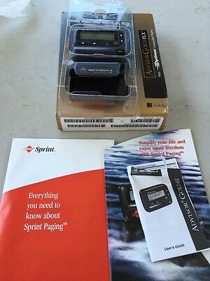 Vintage MOTOROLA Advisor Gold FLX Pager Beeper WITH Box
