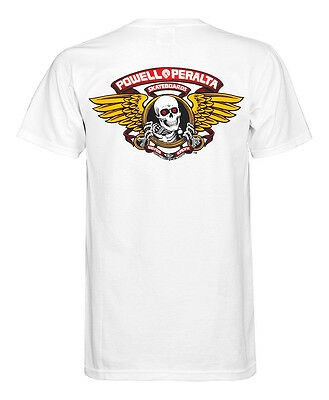 Powell Peralta T-Shirt Winged Ripper White Powell Peralta Skateboard T Small