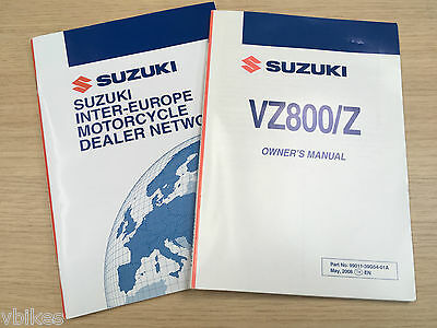Genuine (OE) Suzuki VZ800 2009 Owners Handbook & more 99011-35G54-01A