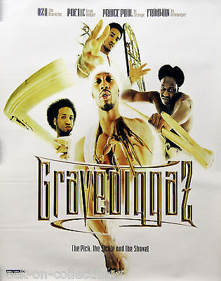 Gravediggaz 1997 The Pick, The Sickle and the Shovel Orig 2-Side Promo Poster
