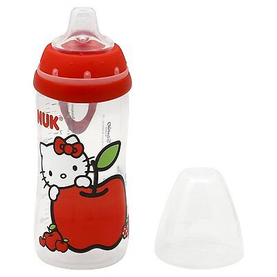 NUK Hello Kitty Silicone Spout Active Sippy Cup 10-Ounce Liquid Beverages Red