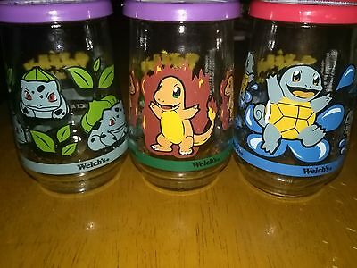 Welchs Jelly Glasses 1999 Pokemon Complete Set of 9