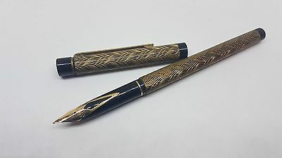 Used Sheaffer Twotone Gold&black Body Fountain Pen 14K Gold Nib