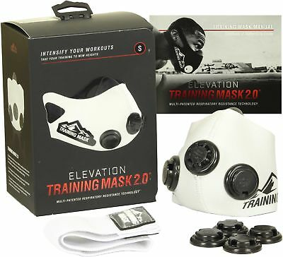 Elevation Training Mask 2.0 White Edition (All Sizes) - gym mma high altitude