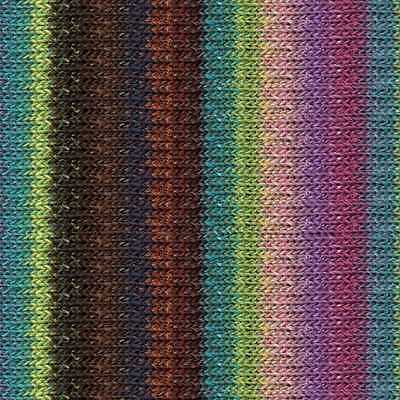 NORO :Silk Garden #428: silk mohair wool yarn Greys-Orange-Olive-Aqua-White