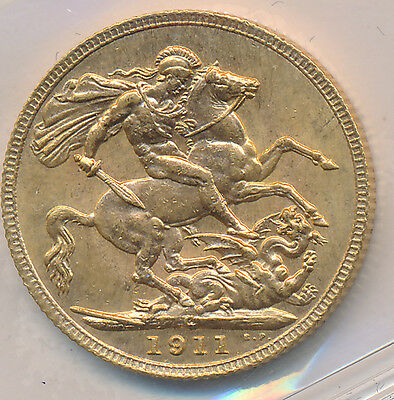 Canada GOLD Sovereign 1911C - ICCS MS-62