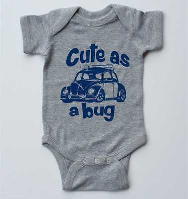 Baby one-piece-CUTE as a BUG-VW Beetle-infant bodysuit-3 colors available
