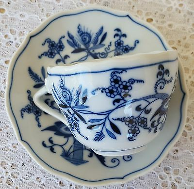 VIntage Blue Danube Onion Flat Cup & Saucer Plate