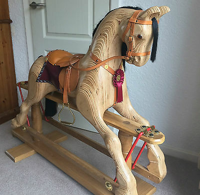 Classic handmade rocking horse by mulholland bailie good for Hand crafted rocking horse