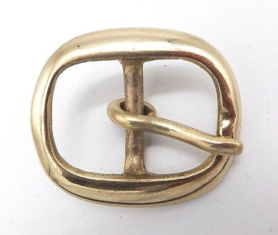 """Solid Brass  [ 3/4"""" - 20 mm ] BRIDLE HARNESS Belt Buckle Leather craft"""