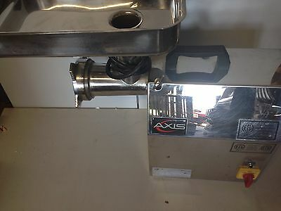 Axis Ax-G12S Commercial #12 Meat Grinder 1Hp Stainless Steel!!